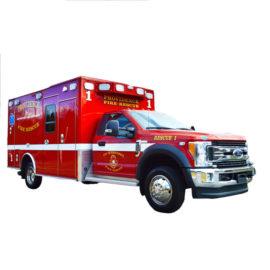 Vehiculo para bomberos con Wheeled Coach