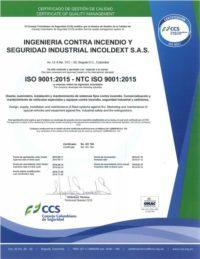 Certificado de Calidad Incoldext ISO 9001