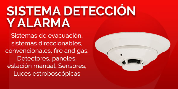 sistema de deteccion y alarma