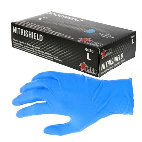 guante de nitrilo con polvo