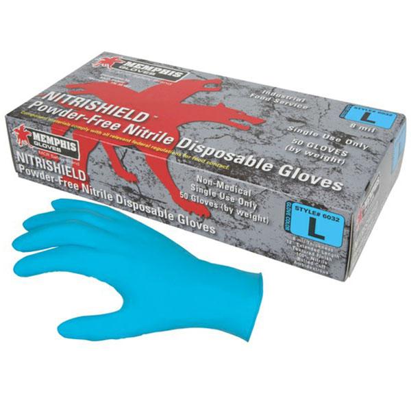 guante de nitrilo sin polvo